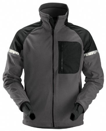 Snickers 8005 AllroundWork Windproof Fleece Jacket (Steel Grey/Black)